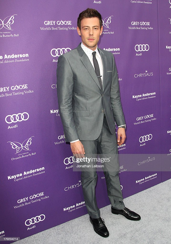 Actor <a gi-track='captionPersonalityLinkClicked' href=/galleries/search?phrase=Cory+Monteith&family=editorial&specificpeople=4491048 ng-click='$event.stopPropagation()'>Cory Monteith</a> arrives at the 12th Annual Chrysalis Butterfly Ball on June 8, 2013 in Los Angeles, California.