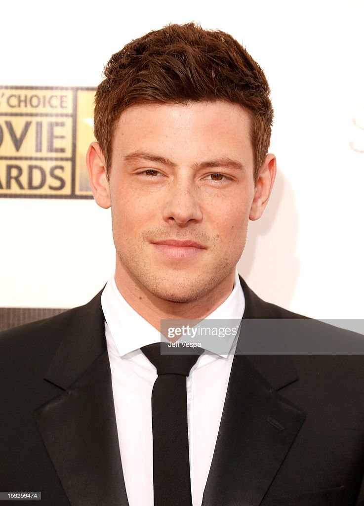 Actor <a gi-track='captionPersonalityLinkClicked' href=/galleries/search?phrase=Cory+Monteith&family=editorial&specificpeople=4491048 ng-click='$event.stopPropagation()'>Cory Monteith</a> arrives at the 18th Annual Critics' Choice Movie Awards at The Barker Hangar on January 10, 2013 in Santa Monica, California.