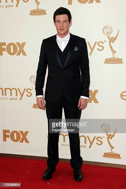 Actor Cory Monteith arrives at the 63rd Annual Primetime Emmy Awards held at Nokia Theatre LA LIVE on September 18 2011 in Los Angeles California