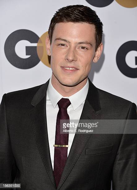 Actor Cory Monteith arrives at the GQ Men of the Year Party at Chateau Marmont on November 13 2012 in Los Angeles California