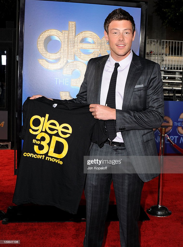 Actor Cory Monteith arrives at the Los Angeles Premiere 'GLEE: The 3D Concert Movie' at Regency Village Theatre on August 6, 2011 in Westwood, California.