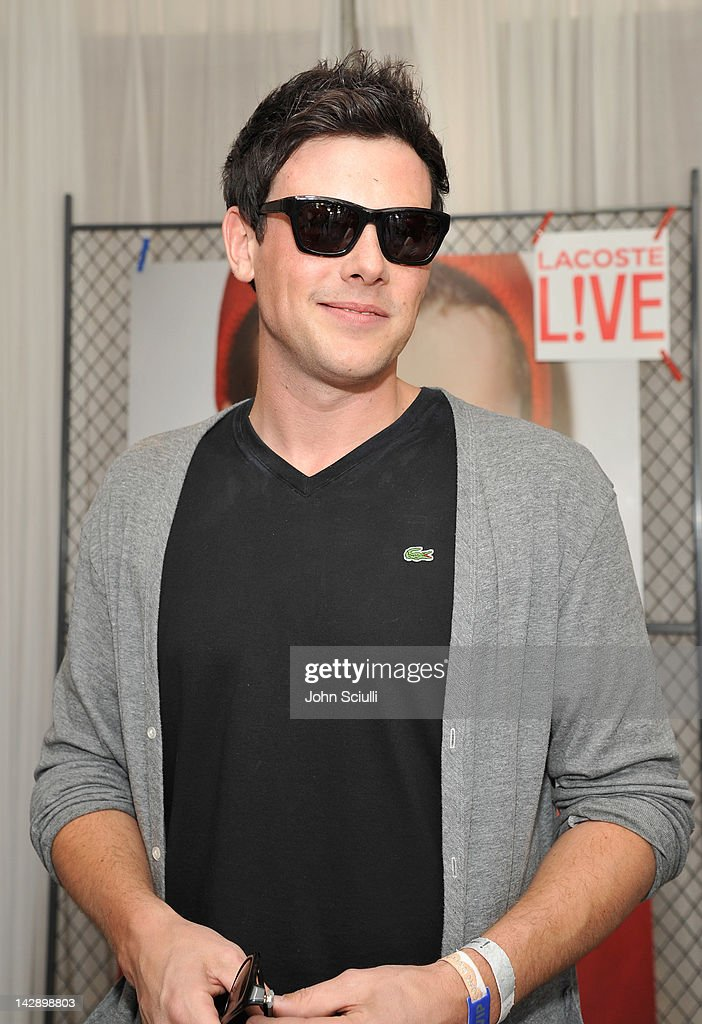 Actor <a gi-track='captionPersonalityLinkClicked' href=/galleries/search?phrase=Cory+Monteith&family=editorial&specificpeople=4491048 ng-click='$event.stopPropagation()'>Cory Monteith</a> attends day 1 of LACOSTE L!VE Hosts a desert pool party in celebration of Coachella on April 14, 2012 in Thermal, California.