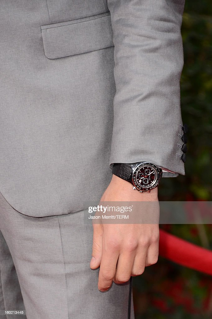 Actor Cory Monteith (fashion detail) attends the 19th Annual Screen Actors Guild Awards at The Shrine Auditorium on January 27, 2013 in Los Angeles, California. (Photo by Jason Merritt/WireImage) 23116_014_2593.jpg