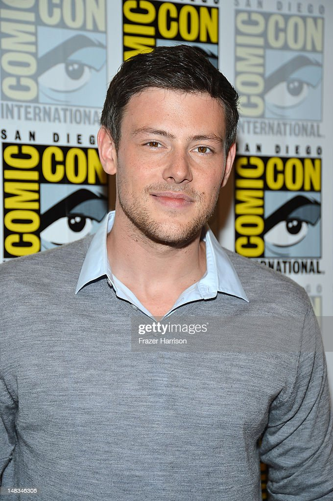 Actor <a gi-track='captionPersonalityLinkClicked' href=/galleries/search?phrase=Cory+Monteith&family=editorial&specificpeople=4491048 ng-click='$event.stopPropagation()'>Cory Monteith</a> attends the 'GLEE' Press Room during Comic-Con International 2012 held at the Hilton San Diego Bayfront Hotel on July 14, 2012 in San Diego, California.