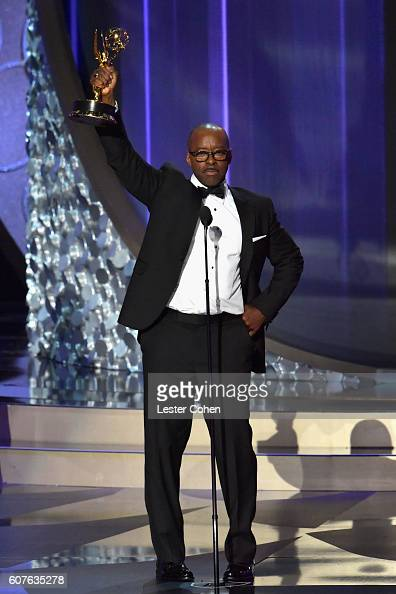 Actor Courtney B Vance accepts the Outstanding Lead Actor in a Limited Series or Movie award for 'The People vs OJ Simpson American Crime Story'...