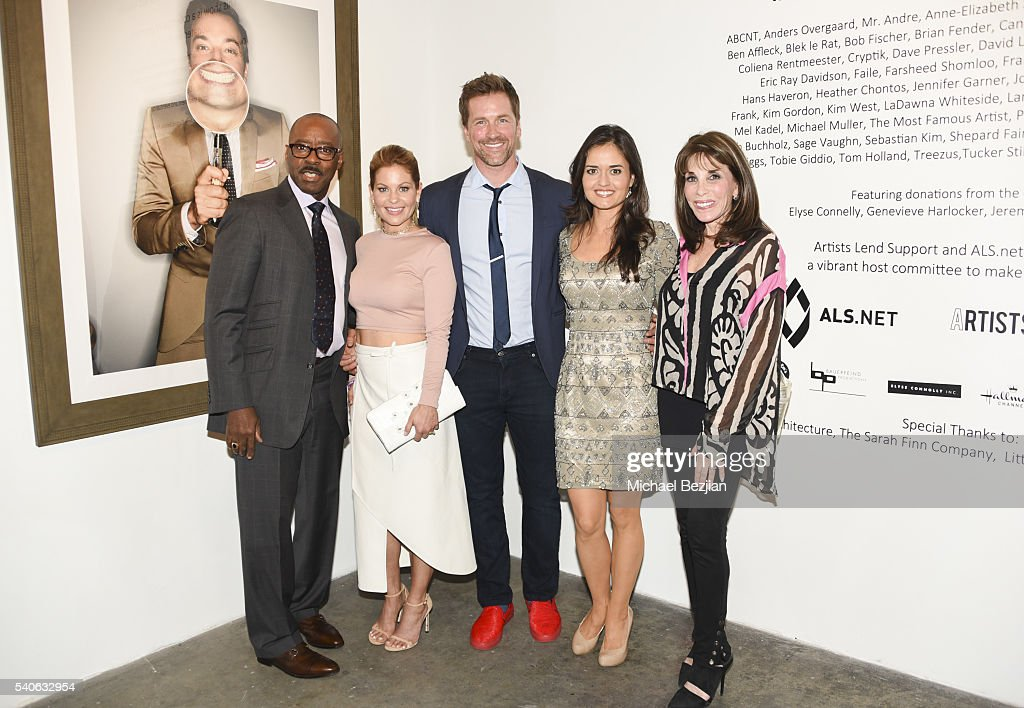 Actor Courtney B Vance actress Candace Cameron actor Paul Greene actress Danica McKellar and actress Kate Linder attend Art For ALS Auction to...