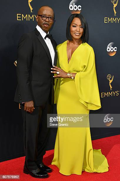 Actor Courtney B Vance and actress Angela Bassett attend the 68th Annual Primetime Emmy Awards at Microsoft Theater on September 18 2016 in Los...