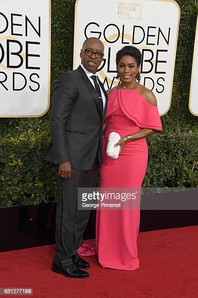 Actor Courtney B Vance and Actress Angela Bassett attend the 74th Annual Golden Globe Awards at The Beverly Hilton Hotel on January 8 2017 in Beverly...