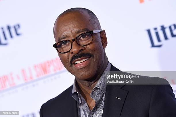 Actor Courtney B Vance arrives at the premiere of 'FX's 'American Crime Story The People V OJ Simpson' at Westwood Village Theatre on January 27 2016...
