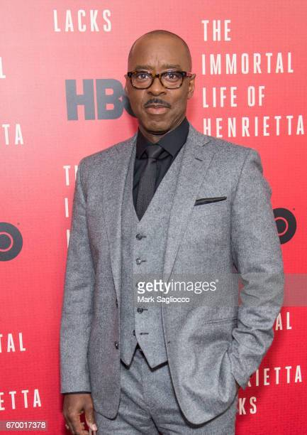 Actor Courtney B Vance attends 'The Immortal Life Of Henrietta Lacks' New York Premiere at SVA Theater on April 18 2017 in New York City