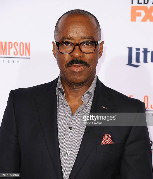 Actor Courtney B Vance attends the premiere of 'American Crime Story The People V OJ Simpson' at Westwood Village Theatre on January 27 2016 in...