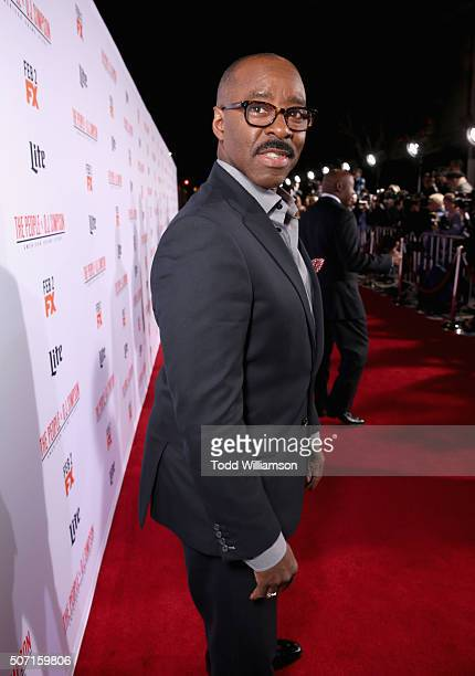 Actor Courtney B Vance attends the premiere of 'FX's 'American Crime Story The People V OJ Simpson' at Westwood Village Theatre on January 27 2016 in...