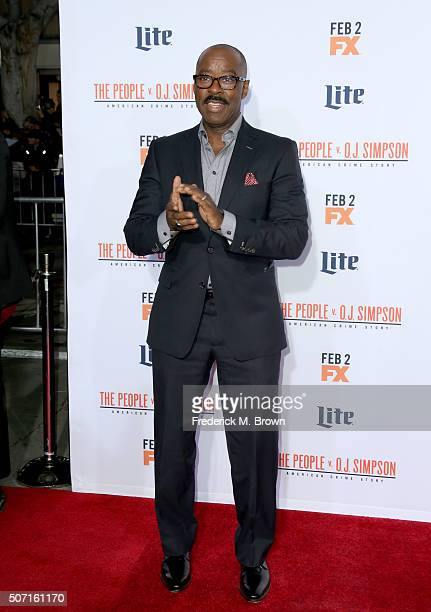 Actor Courtney B Vance attends the premiere of FX's American Crime Story The People V OJ Simpson at Westwood Village Theatre on January 27 2016 in...