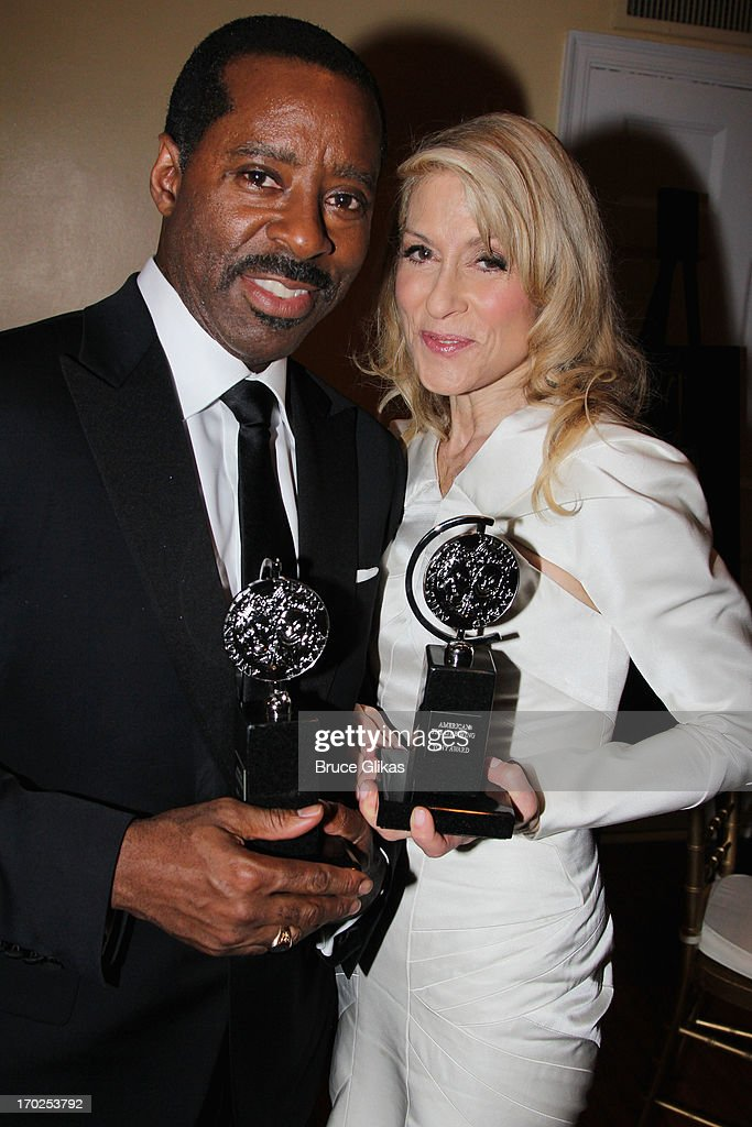 Actor Courtney B. Vance, winner of Best Performance by a Featured Actor in a Play for his role in 'Lucky Guy' and Judith Light, winner of Best Performance by a Featured Actress in a Play for her role in 'The Assembled Parties' pose together at The 67th Annual Tony Awards at Radio City Music Hall on June 9, 2013 in New York City.