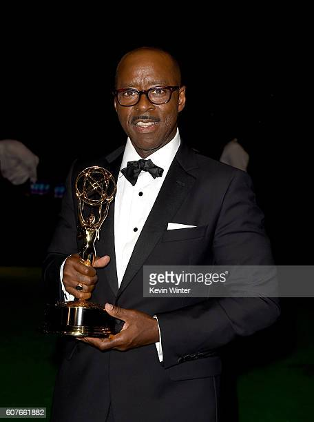 Actor Courtney B Vance winner of Outstanding Lead Actor in a Limited Series or Movie for 'The People v OJ Simpson American Crime Story' attends the...