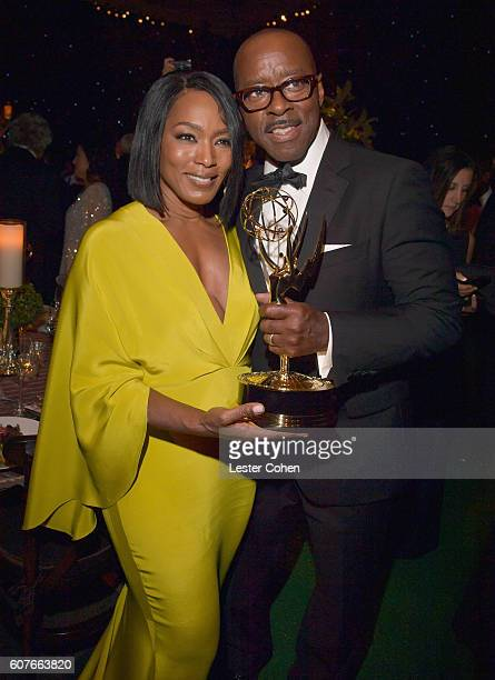 Actor Courtney B Vance winner of the award for Outstanding Lead Actor in a Limited Series or Movie for 'The People vs OJ Simpson American Crime...
