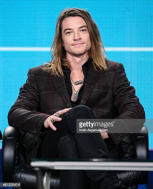 Actor Craig Horner speaks onstage during the Viacom Winter Television Critics Association press tour at The Langham Huntington Hotel and Spa on...