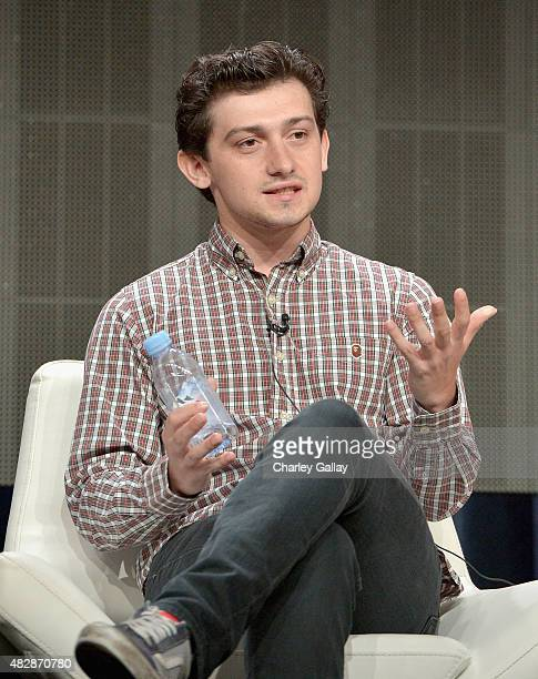 Actor Craig Roberts speaks onstage during the 'Red Oaks' panel discussion at the Amazon Studios portion of the 2015 Summer TCA Tour on August 3 2015...