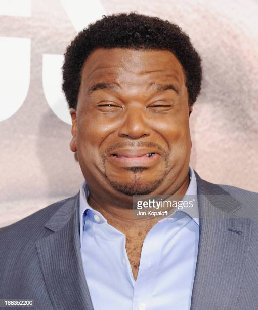 Actor Craig Robinson arrives at the Los Angeles Premiere 'Peeples' at ArcLight Hollywood on May 8 2013 in Hollywood California