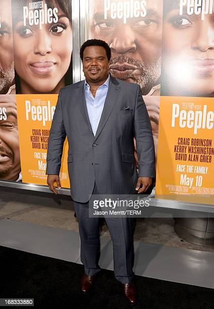 Actor Craig Robinson arrives at the premiere of 'Peeples' presented by Lionsgate Film and Tyler Perry at ArcLight Hollywood on May 8 2013 in...