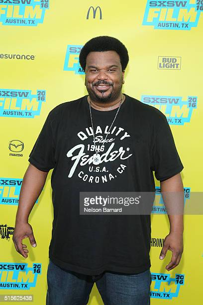 Actor Craig Robinson attends the 'Morris From America' premiere during 2016 SXSW Music Film Interactive Festival at Topfer Theatre at ZACH on March...