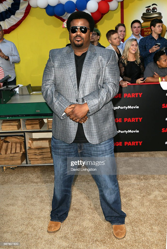 Actor Craig Robinson attends the premiere of Sony's 'Sausage Party' at Regency Village Theatre on August 9 2016 in Westwood California