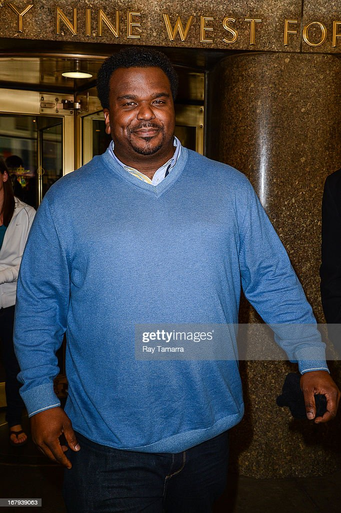 Actor Craig Robinson leaves the 'New York Live' taping at the NBC Rockefeller Center Studios on May 2, 2013 in New York City.