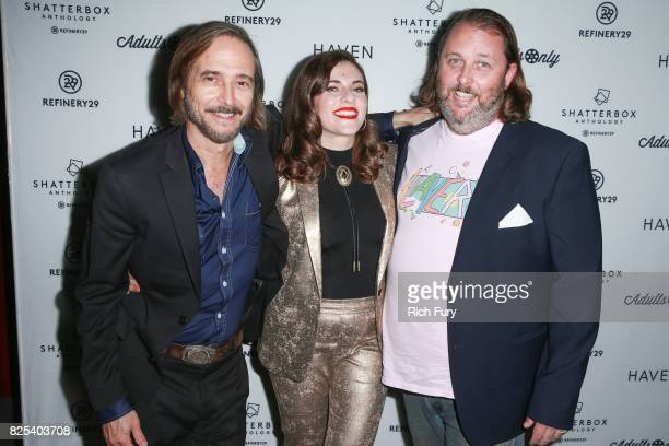 Actor Craig Stark director Courtney Hoffman and actor Jason Boggs attend Refinery29's Shatterbox Anthology premiere of Courtney Hoffman's 'The Good...