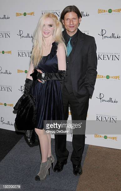 Actor Crispin Glover and Vivi Voss arrives at 'We Need To Talk About Kevin' Los Angeles Special Screening at Writer's Guild Theater on November 10...