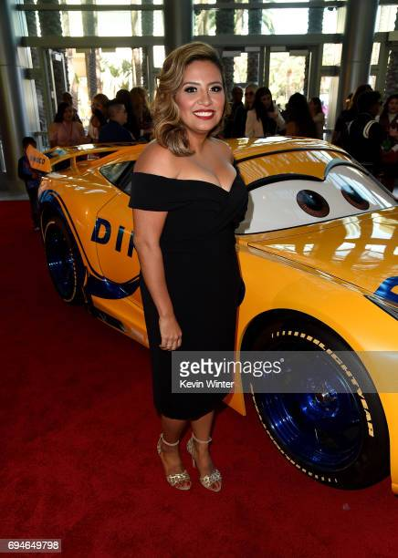 Actor Cristela Alonzo attends the premiere of Disney and Pixar's 'Cars 3' at Anaheim Convention Center on June 10 2017 in Anaheim California