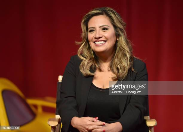 Actor Cristela Alonzo speaks at the 'Cars 3' Press Conference at Anaheim Convention Center on June 10 2017 in Anaheim California
