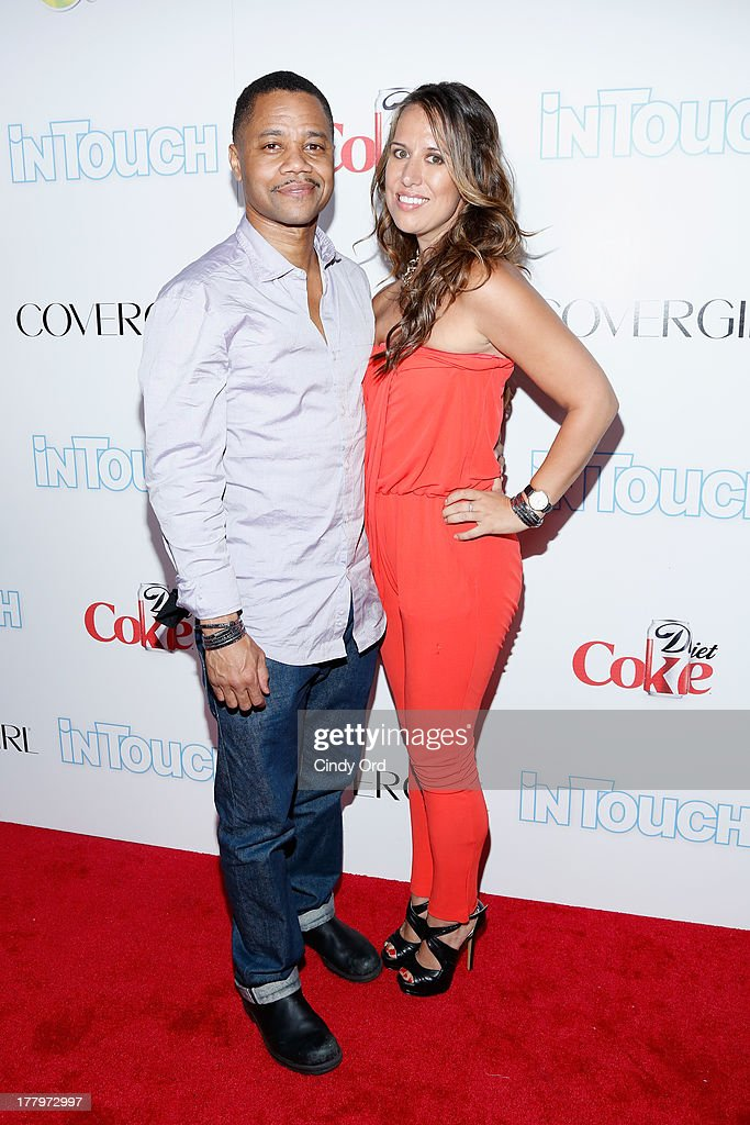 Actor Cuba Gooding Jr. and guest arrive at Intouch Weekly's 'ICONS & IDOLS Party' at FINALE Nightclub on August 25, 2013 in New York City.