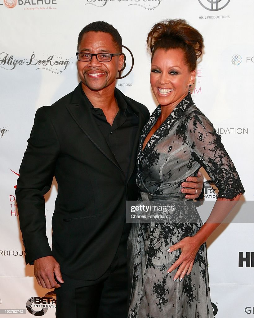 Actor Cuba Gooding, Jr. and honoree Vanessa Williams arrive at the Dance Theatre Of Harlem 44th Anniversary Celebration at the Mandarin Oriental Hotel on February 26, 2013 in New York City.