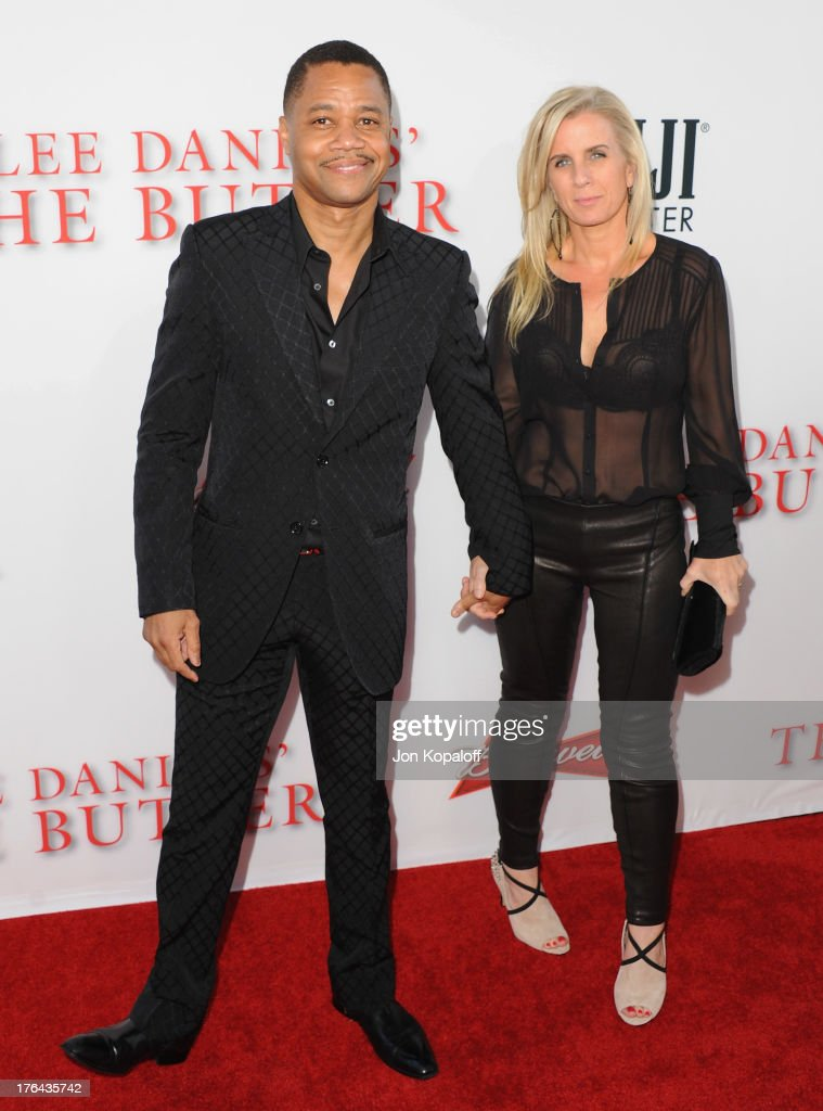 Actor Cuba Gooding Jr. and wife Sara Kapfer arrive at the Los Angeles Premiere 'Lee Daniels' The Butler' at Regal Cinemas L.A. Live on August 12, 2013 in Los Angeles, California.