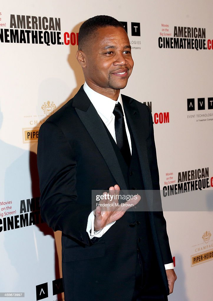 Actor <a gi-track='captionPersonalityLinkClicked' href=/galleries/search?phrase=Cuba+Gooding+Jr.&family=editorial&specificpeople=208232 ng-click='$event.stopPropagation()'>Cuba Gooding Jr.</a> arrives at the 27th American Cinematheque Award honoring Jerry Bruckheimer at The Beverly Hilton Hotel on December 12, 2013 in Beverly Hills, California.