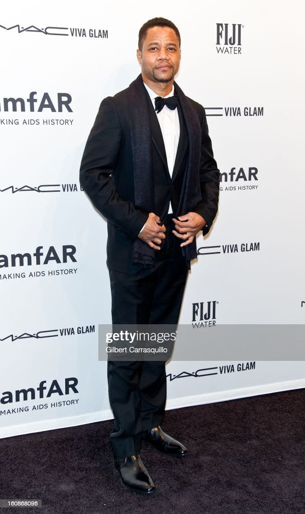 Actor Cuba Gooding, Jr. attends amfAR New York Gala To Kick Off Fall 2013 Fashion Week at Cipriani, Wall Street on February 6, 2013 in New York City.