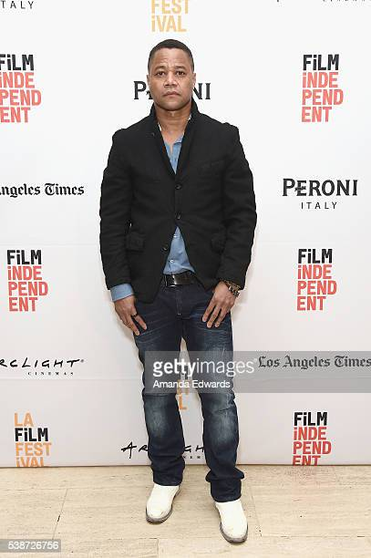 Actor Cuba Gooding Jr attends An Evening With'The People vs OJ Simpson' during the 2016 Los Angeles Film Festival at LACMA on June 7 2016 in Los...