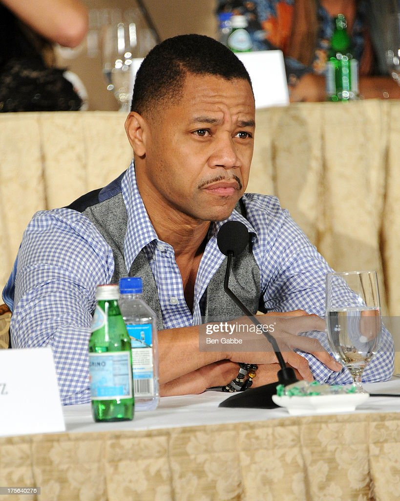 Actor <a gi-track='captionPersonalityLinkClicked' href=/galleries/search?phrase=Cuba+Gooding+Jr.&family=editorial&specificpeople=208232 ng-click='$event.stopPropagation()'>Cuba Gooding Jr.</a> attends the press conference for The Weinstein Company's LEE DANIELS' THE BUTLER at Waldorf Astoria Hotel on August 5, 2013 in New York City.