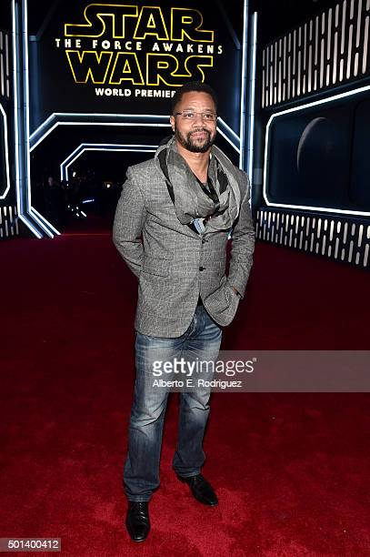 "Actor Cuba Gooding Jr attends the World Premiere of ""Star Wars The Force Awakens"" at the Dolby El Capitan and TCL Theatres on December 14 2015 in..."