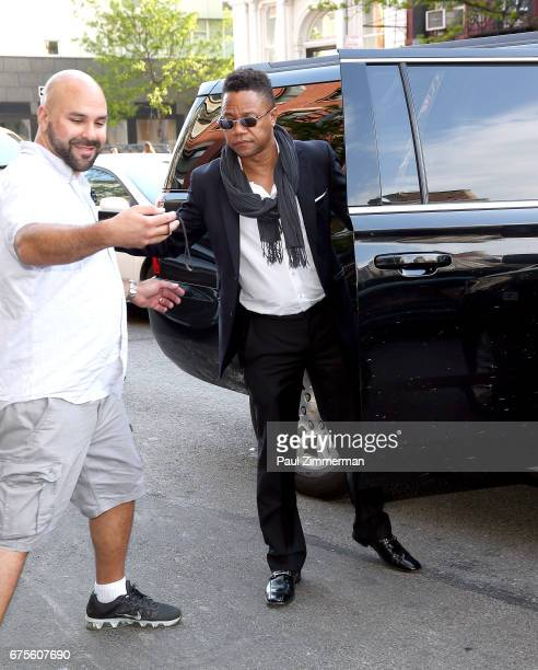 Actor Cuba Gooding Jr is seen departing the Bowery Hotel on May 1 2017 in New York City