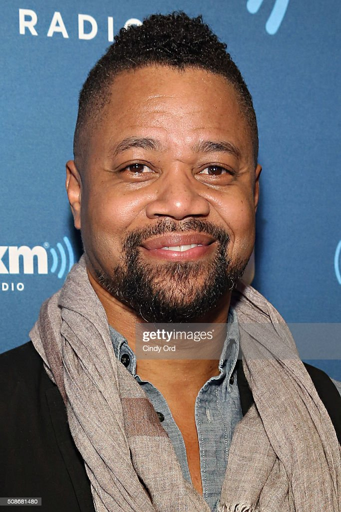 Actor Cuba Gooding Jr visits the SiriusXM set at Super Bowl 50 Radio Row at the Moscone Center on February 5 2016 in San Francisco California