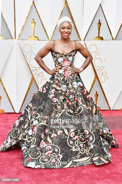 Actor Cynthia Erivo attends the 89th Annual Academy Awards at Hollywood Highland Center on February 26 2017 in Hollywood California
