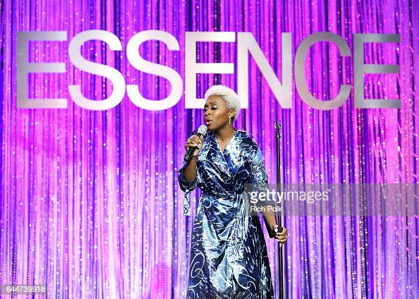 Actor Cynthia Erivo performs onstage at Essence Black Women in Hollywood Awards at the Beverly Wilshire Four Seasons Hotel on February 23 2017 in...