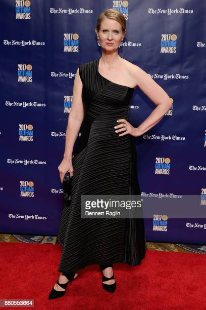 Actor Cynthia Nixon attends the 2017 Gotham Awards sponsored by Greater Ft Lauderdale Tourism at Cipriani Wall Street on November 27 2017 in New York...
