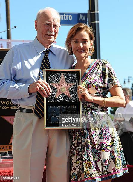 Actor Dabney Coleman and actress Penelope Ann Miller attend the ceremony honoring Dabney Coleman with a Star on The Hollywood Walk of Fame on...