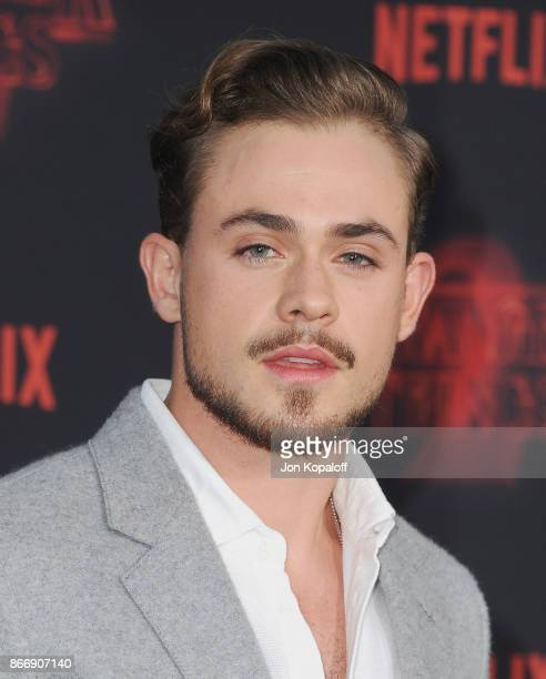 Actor Dacre Montgomery arrives at the premiere of Netflix's 'Stranger Things' Season 2 at Regency Bruin Theatre on October 26 2017 in Los Angeles...