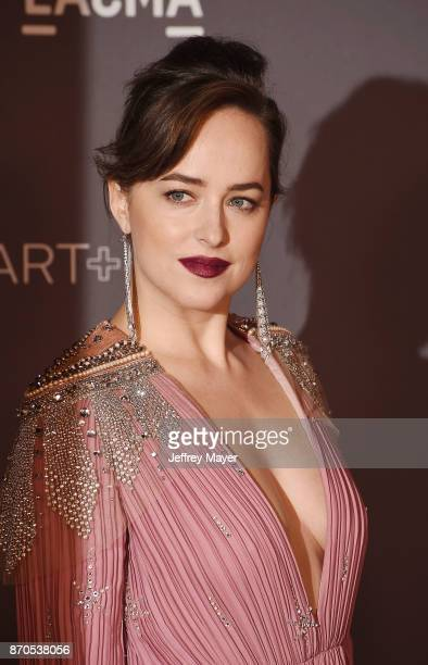 Actor Dakota Johnson attends the 2017 LACMA Art Film Gala Honoring Mark Bradford and George Lucas presented by Gucci at LACMA on November 4 2017 in...
