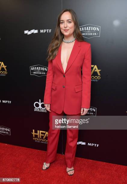 Actor Dakota Johnson poses in the press room during the 21st Annual Hollywood Film Awards at The Beverly Hilton Hotel on November 5 2017 in Beverly...