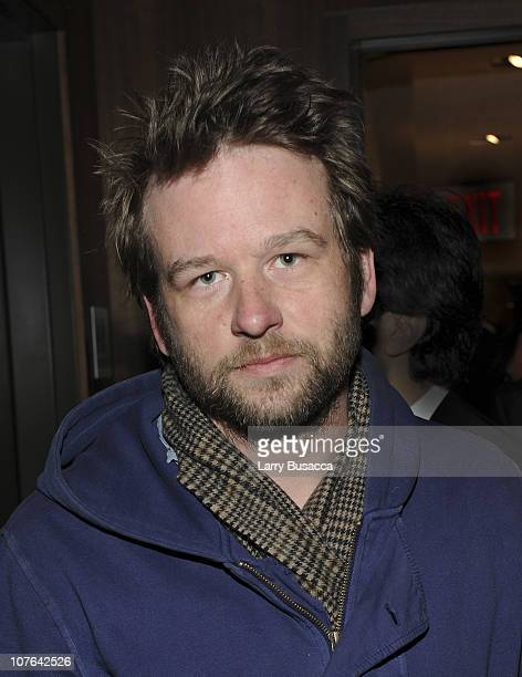 Actor Dallas Roberts attends The Cinema Society and The Creation Coalition after party for 'Casino Jack' at The Setai Fifth Avenue on December 16...