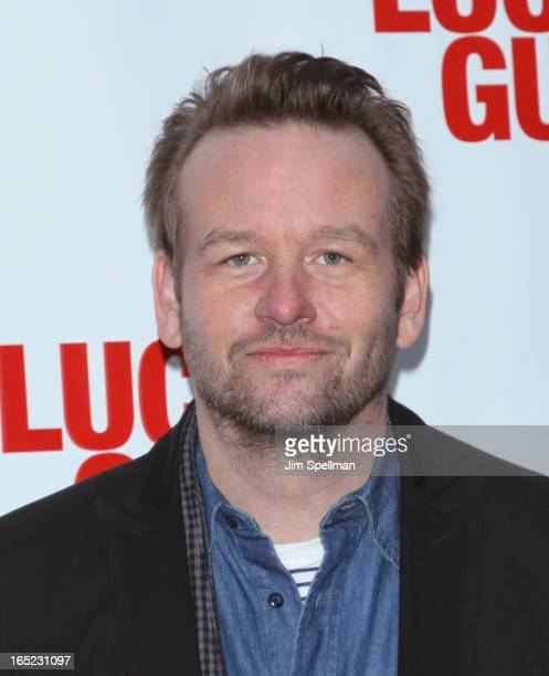 Actor Dallas Roberts attends the 'Lucky Guy' Broadway Opening Night Arrivals Curtain Call at The Broadhurst Theatre on April 1 2013 in New York City